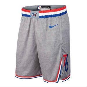 Nike Gray Philadelphia 76ers City Edition Shorts